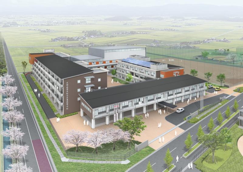 新校舎完成パース図